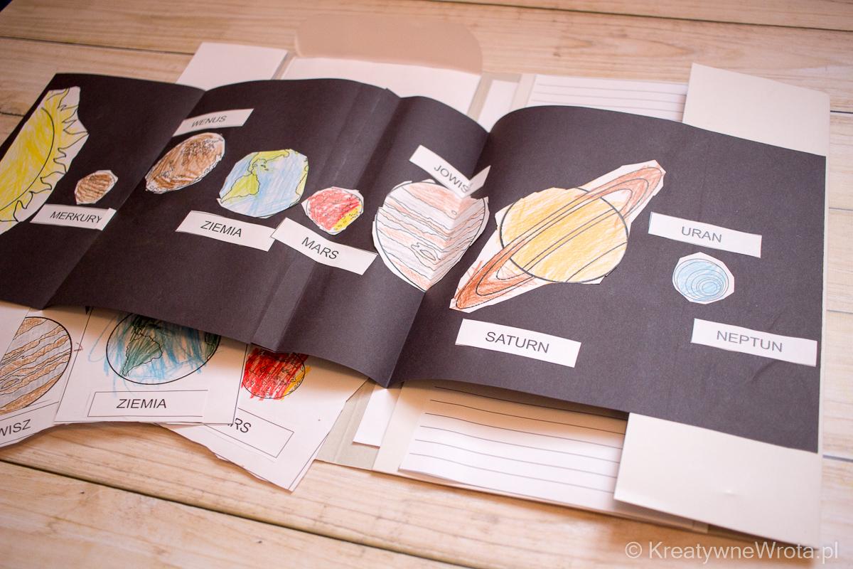 lapbook układ słoneczny